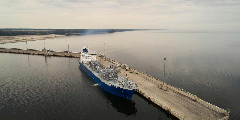 Порт погрузки апатита в Эстонии
